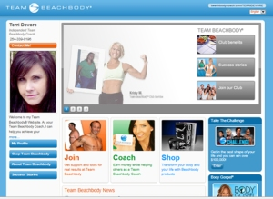 Sample Beachbody Website