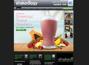 Sample Beachbody Shakeology Website